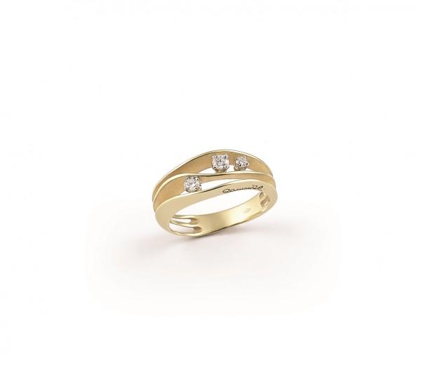 Annamaria Cammilli Ring DUNE Yellow Sunrise Gold mit 3 Diamanten GAN2662U