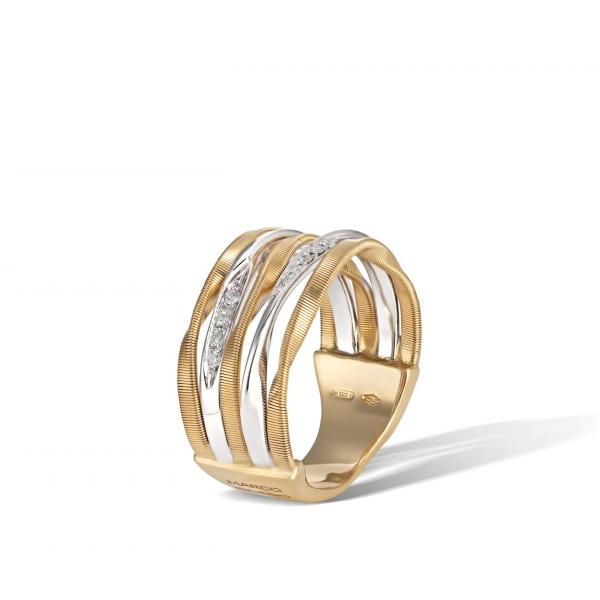 Marco Bicego Ring Gold mit Diamanten Marrakech Onde AG349-B
