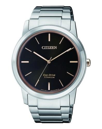 Citizen Uhr Herren 41mm silber schwarz Super Titanium Eco-Drive AW2024-81E