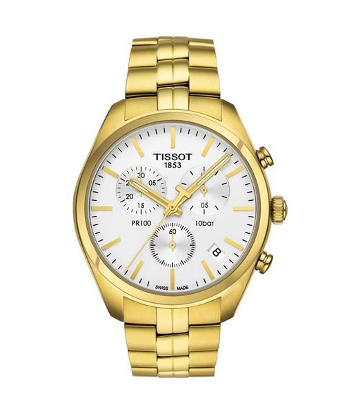 Tissot PR 100 Chronograph (T101.417.33.031.00) Gold Herrenuhr
