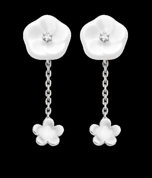 Meissen Ohrringe 2 Blüten Royal Blossom MPJ55BL28600