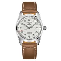 Longines Spirit 40mm Silber Leder-Armband Automatik L3.810.4.73.2 | Uhren01