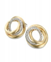 Marco Bicego Ohrringe mit Diamanten aus Gold Jaipur Link Ohrstecker OB1007-B