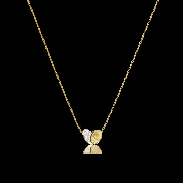 Luisa Rosas Kette Herz Gold mit Diamanten BE LRBE137