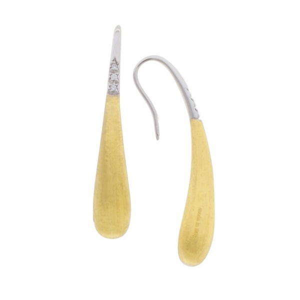 Marco Bicego Lucia Ohrringe in Tropfen Form Ohrhänger aus Gold 18k mit Diamanten OB1676 B | UHREN01