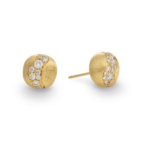 Marco Bicego Ohrringe Africa Ohrstecker Gold mit Diamanten OB1587-B | UHREN01