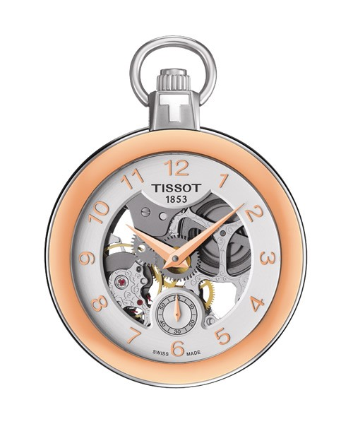 Tissot Taschenuhr Pocket Mechanical Skeleton rosegold T853.405.29.412.01