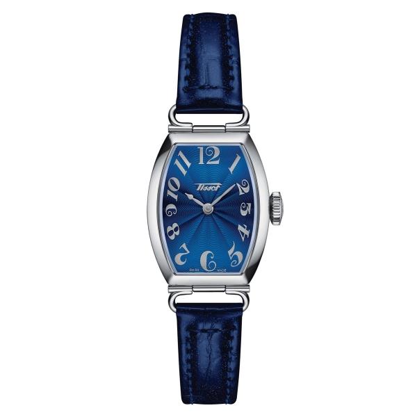 Tissot Heritage Porto Small Lady Damenuhr Silber Blau Leder-Armband Quarz T128.109.16.042.00