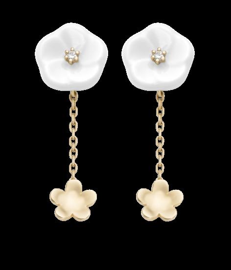 Meissen Ohrringe 2 Blüten Royal Blossom MPJ55BL38600