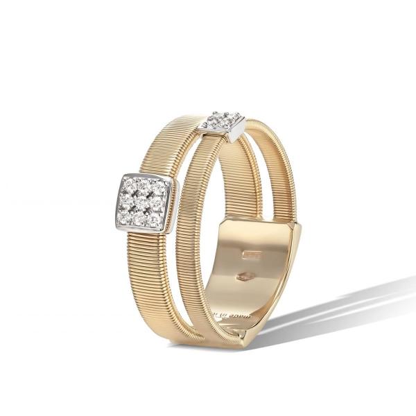 Marco Bicego Ring Gold mit Diamanten Pavés Masai AG324 B2 YW
