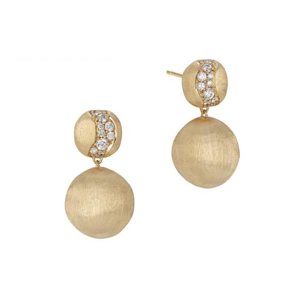 Marco Bicego Ohrringe Gold mit Diamanten Pave Africa OB1590 B Y