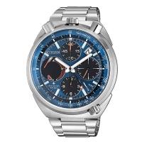Citizen Promaster Land 44mm Herrenuhr Eco Drive Chronograph blau Edelstahl-Armband AV0070-57L zum günstigen Preis online kaufen | UHREN01