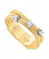 Marco Bicego Goa Ring Gold mit Diamanten 3 Stränge AG269-B-Y