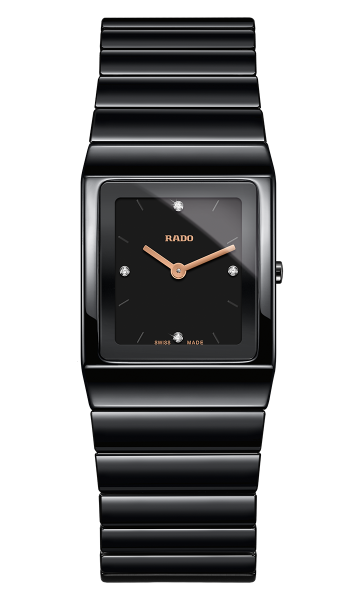 Rado Jubile Ceramica Diamonds Damenuhr mit Diamanten Keramik schwarz R21702722
