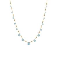 Marco Bicego Halskette Collier Paradise Gold 18 Karat & Aquamarine Edelsteine CB1865-AQ01 | UHREN01