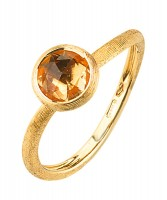 Marco Bicego Ring Jaipur mit gelbem Citrin Edelstein Gold 18 Karat AB471-QG01