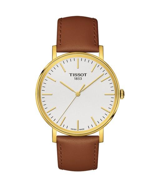 Tissot Everytime Medium Herrenuhr 38mm Gold Leder-Armband braun T109.410.36.031.00 Herrenuhr
