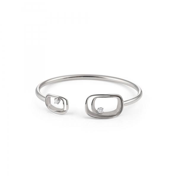 Annamaria Cammilli Armband 18 Karat White Ice Weißgold & Diamanten Armspange Serie Uno GBR2791W    UHREN01