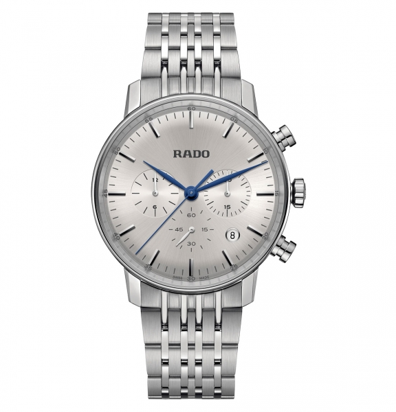 Rado Coupole Classic Chronograph Herrenuhr 42mm Silber Edelstahl-Armband Quarz R22910103