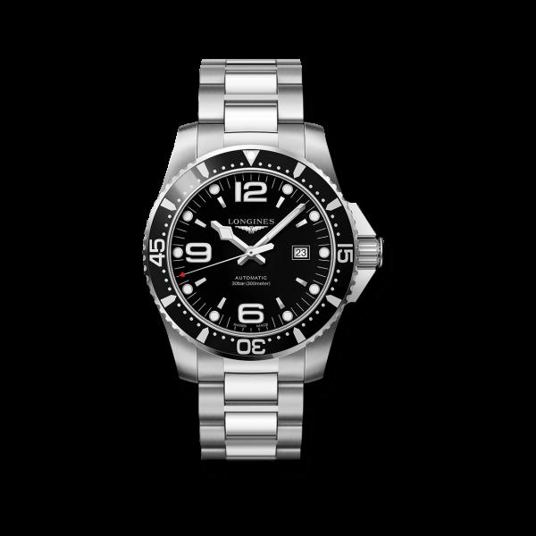 Longines HydroConquest Automatic Herrenuhr 44mm schwarz Edelstahl-Armband L3.841.4.56.6 zum günstigen Preis online kaufen | UHREN01
