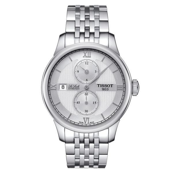 Tissot Le Locle Regulateur Automatik Herrenuhr 39mm Silber Edelstahl-Armband T006.428.11.038.02