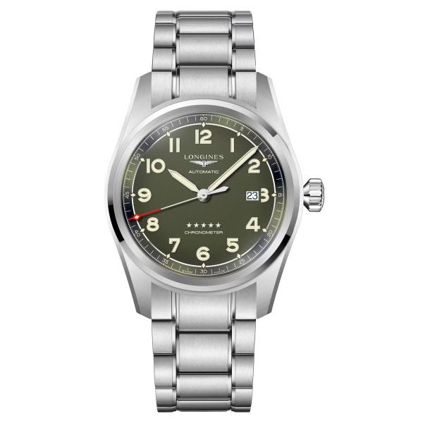Longines Spirit Automatik 42mm Grün Edelstahl-Armband L3.811.4.03.6