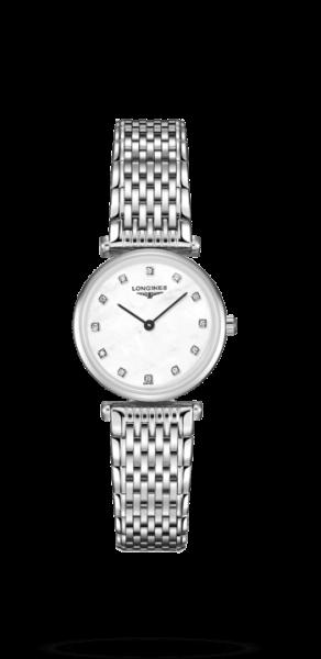 Longines La Grande Classique Damen-Uhr silber weiß mit Diamanten 24mm L4.209.4.87.6 zum günstigen Preis online kaufen | UHREN01