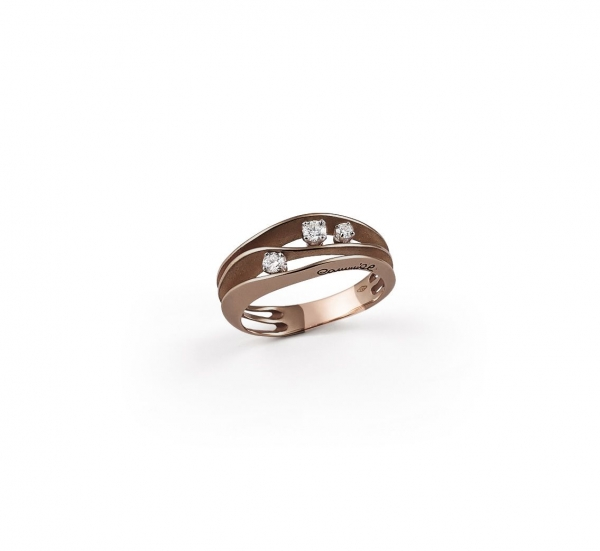 Annamaria Cammilli Ring Dune Brown Chocolate Gold mit 3 Diamanten GAN2662C | UHREN01