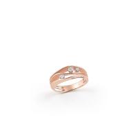 Annamaria Cammilli Ring Dune mit Diamanten & Rosegold Pink Champagne 18 Karat GAN2662P | UHREN01