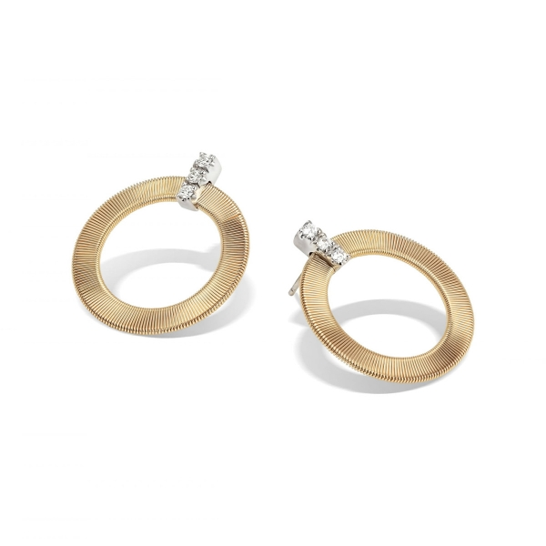 Marco Bicego Ohrringe Masai Gold & Diamanten OG378 B1 YW
