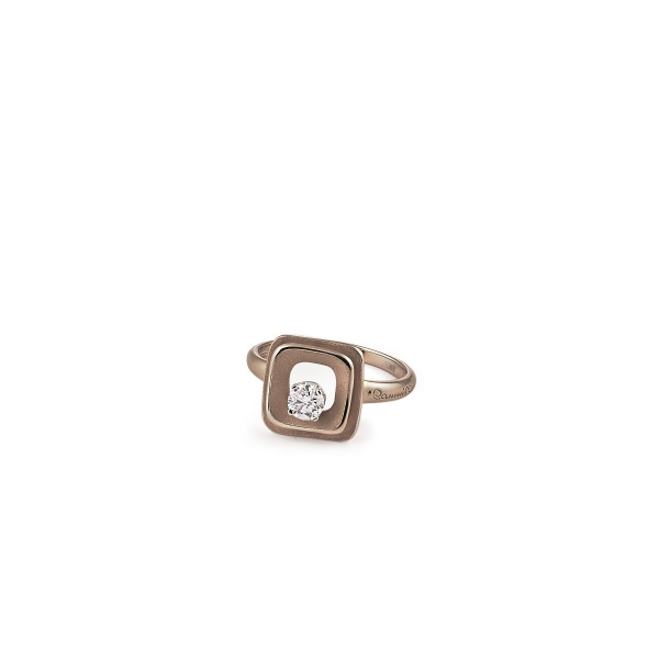 Annamaria Cammilli Ring Brown Chocolate Gold 18 Karat Goldring mit Diamanten My Way GAN2668C | UHREN01