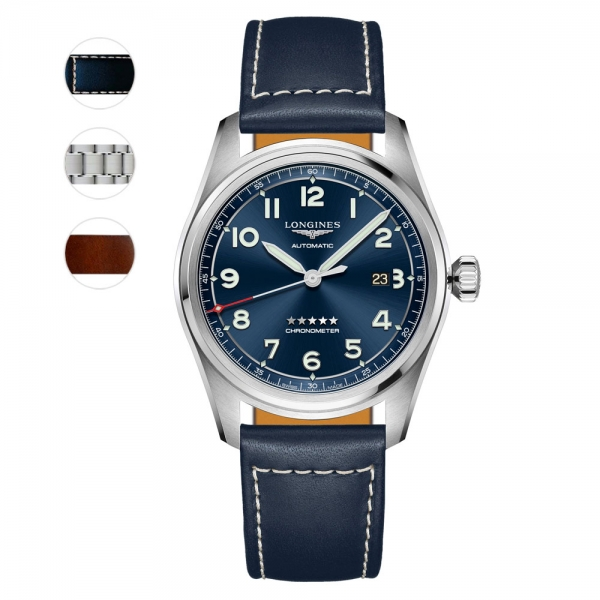 Longines Spirit Prestige Edition Automatik Herrenuhr 42mm Blau L3.811.4.93.9
