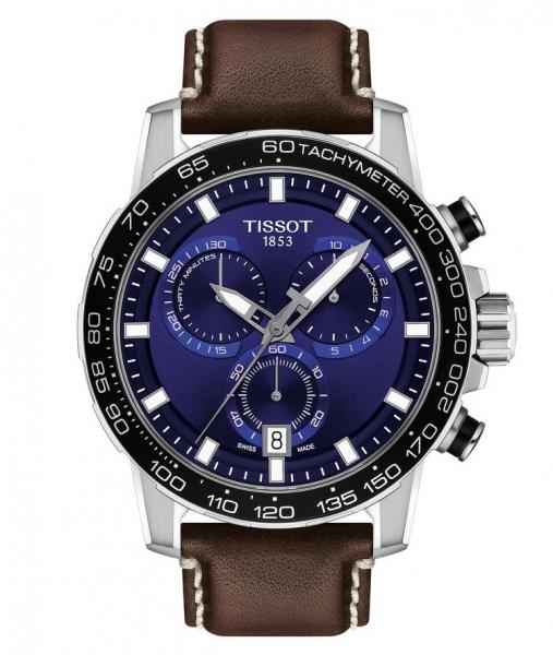 Tissot Supersport Chrono Blau Quartz Lederarmband Braun Chronograph 45mm T125.617.16.041.00 | UHREN01