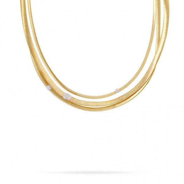 Marco Bicego Masai Damen Halskette 42 cm aus 18K Gelbgold mit 0,43 Karat Diamanten CG733 B