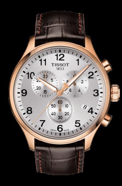 Tissot Chrono XL Classic Rosegold SIlber Leder-Armband Herren Chronograph 45mm T116.617.36.037.00