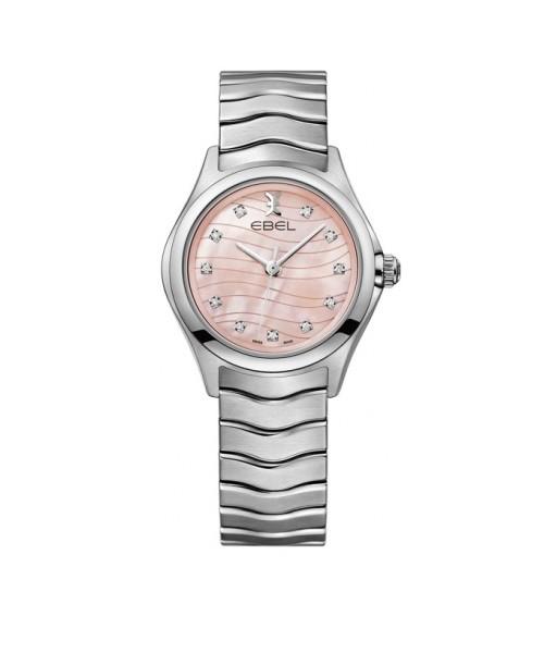 Die Ebel Wave Lady: Perlmuttzifferblatt in rosé & Diamanten 1216268