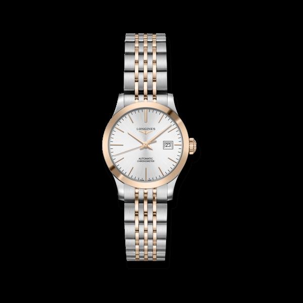 Longines Record Damen Automatic Uhr Bicolor 30mm Edelstahl-Armband L2.321.5.72.7 zum günstigen Preis online kaufen | UHREN01