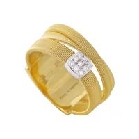 Marco Bicego Ring Gold mit Diamanten 3 Stränge Masai AG329-B | UHREN01