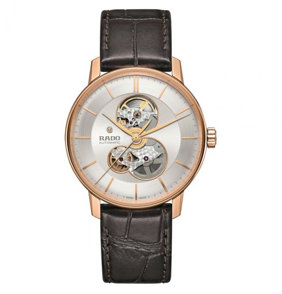 Rado Coupole Classic Automatic Open Heart Herrenuhr Rosegold Leder-Armband R22895025