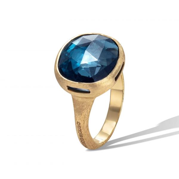 Marco Bicego Ring mit London Topas Edelstein Gold 18 Karat Jaipur Color AB617 TPL01 Y