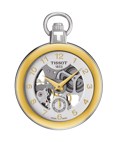 Tissot Taschenuhr Pocket Mechanical Skeleton gold T853.405.29.412.00