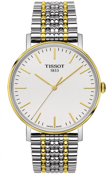 Tissot Everytime Medium in bicolor 38 mm mit Indixes T109.410.22.031.00