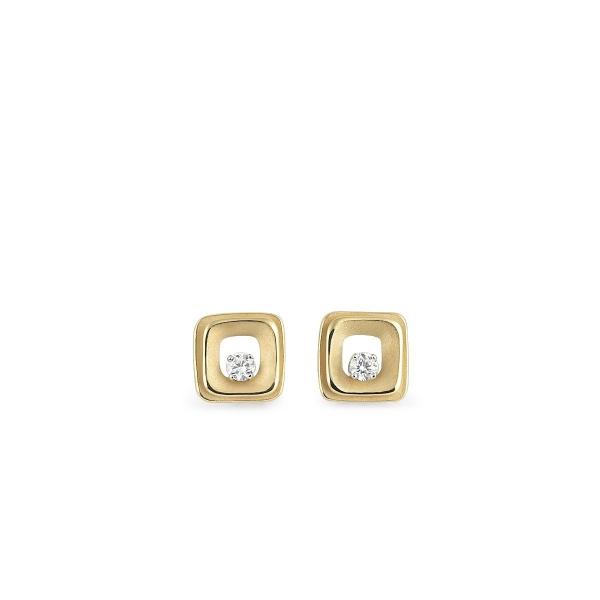 Annamaria Cammilli Ohrringe 18 Karat Yellow Sunrise Gold Ohrstecker mit Diamanten My Way GOR2669U | UHREN01