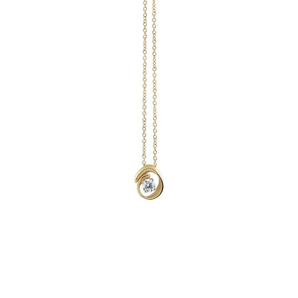 Annamaria Cammilli Halskette Yellow Sunrise Gold 18 Kt Anhänger mit Diamanten Dune Assolo GPE1547U