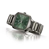Rado True Square Automatik Keramik Armbanduhr viereckig mit grünem Zifferblatt R27077312 | UHREN01