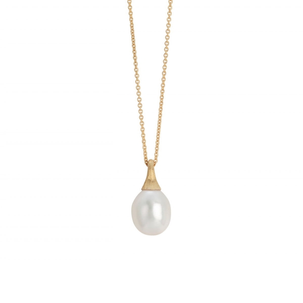 Marco Bicego Kette & Anhänger Gold mit Perle Africa Boules CB2493 PL Y