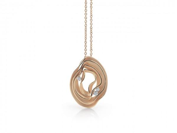 Annamaria Cammilli 42cm Damen Halskette DUNE aus 750 Orange Gold mit Diamanten 0,16ct GPE2444J