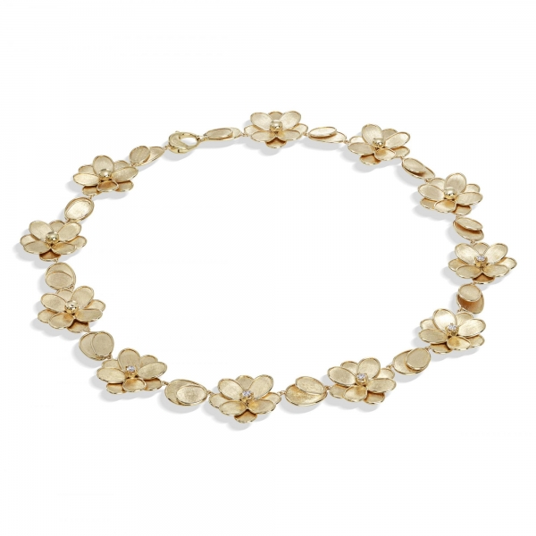 Marco Bicego Halskette Gold mit Diamanten Petali CB2441 B Y