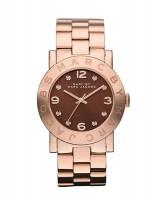 Marc Jacobs Uhr Damen Rosegold Zifferblatt braun mit Kristalllen 36mm Amy MBM3167 zum günstigen Preis online kaufen | UHREN01