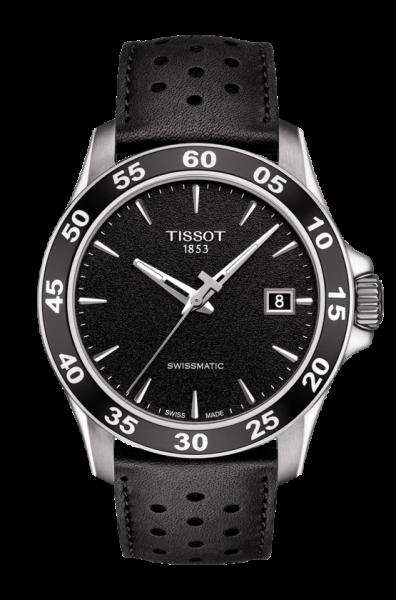 Tissot V8 Swissmatic Automatik Herren Sportuhr mit schwarzen Zifferblatt T106.407.16.051.00